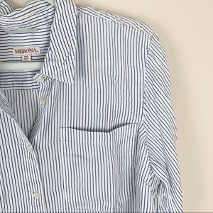 Merona Striped Button Down Shirt XXL